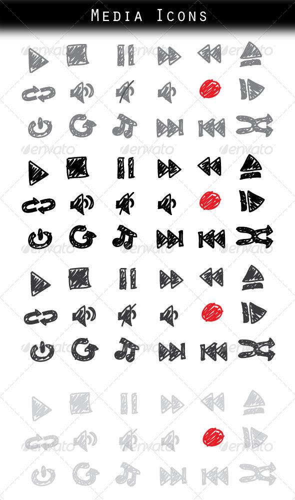 18 Media Icons - Media Icons
