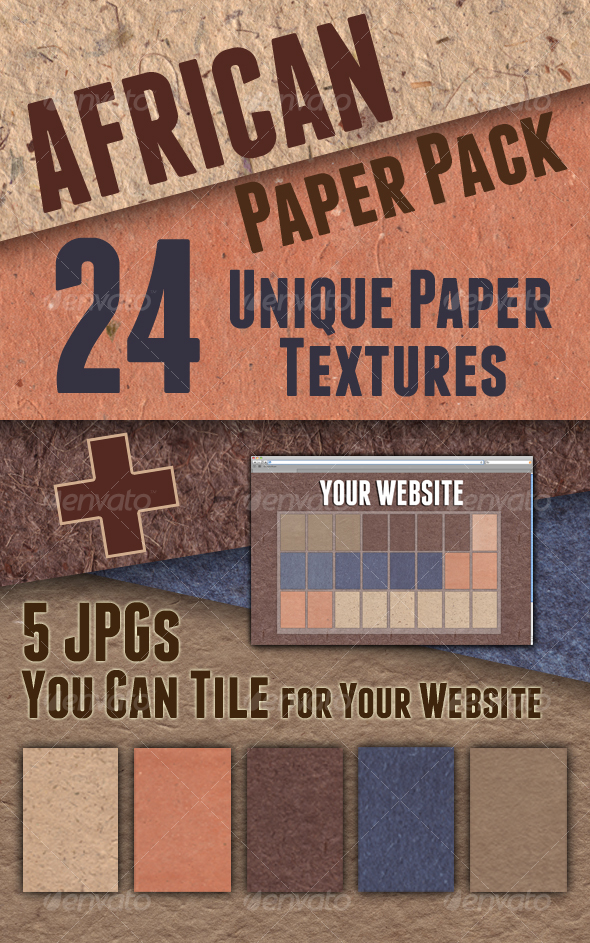 Graphic River African Paper Pack  Textures -  Art 103067
