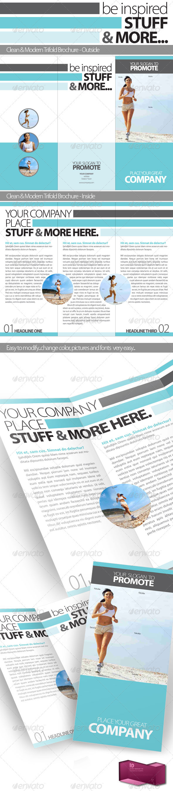 GraphicRiver Inspire Trifold Brochure InDesign Template 304160
