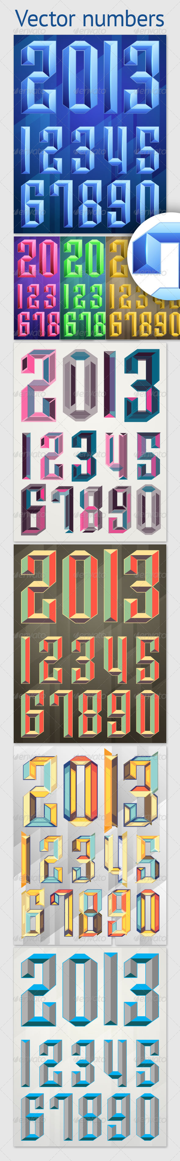GraphicRiver Vector Numbers 2864842
