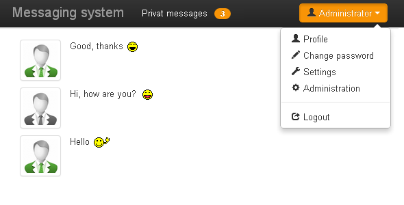 Messaging system - CodeCanyon Item for Sale