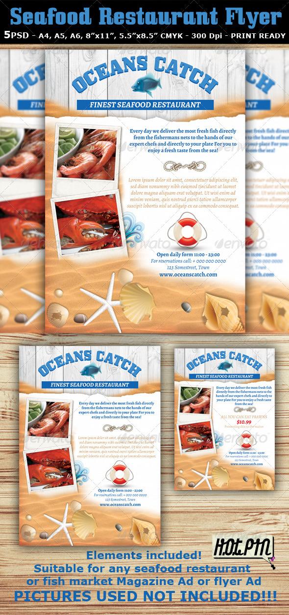 seafood restaurant flyer template restaurant flyers