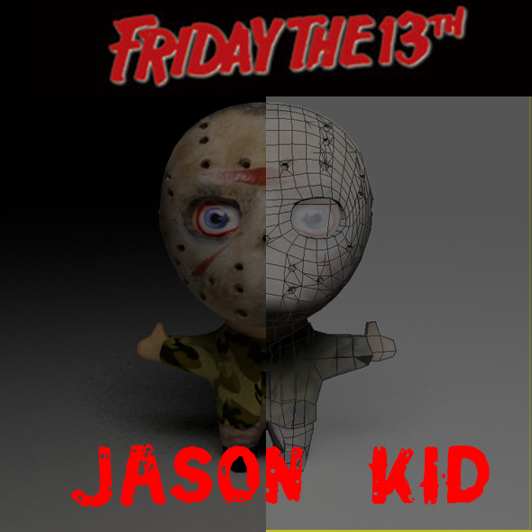 3DOcean Jason Friday The 13th Kid Model 2871172