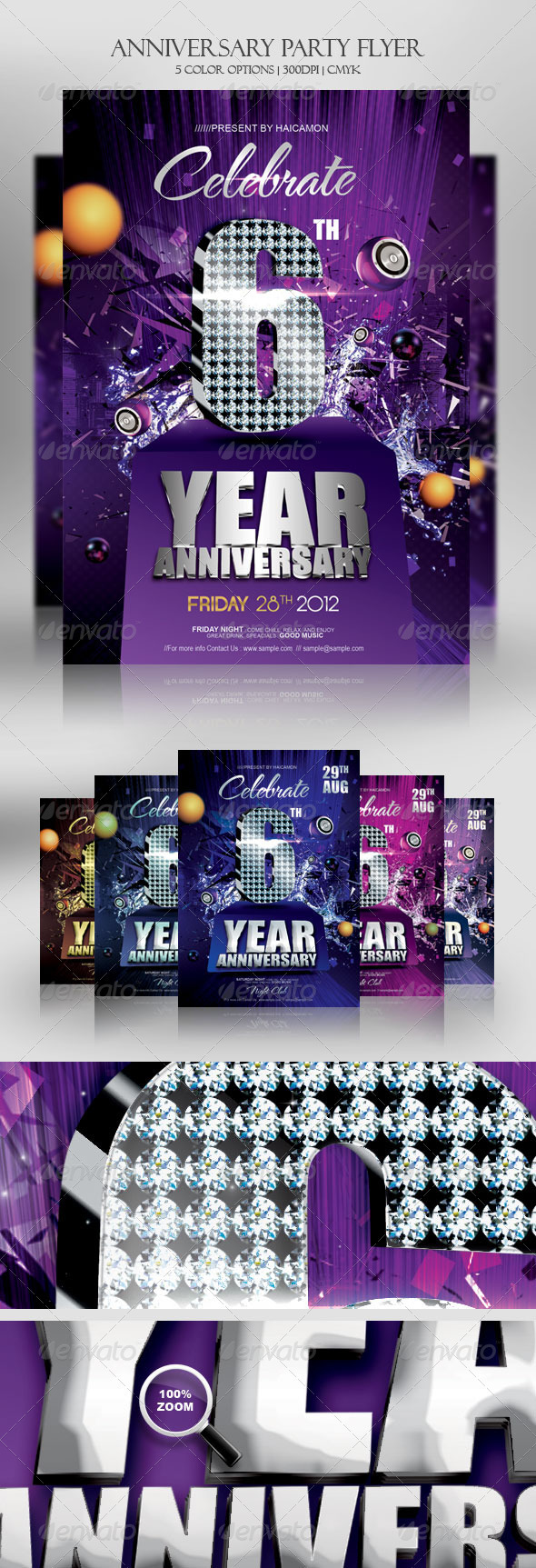 GraphicRiver Anniversary Party Invitations Flyer 2856124
