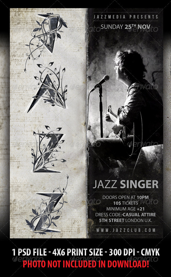 Jazz / Blues Concert Flyer - Concerts Events