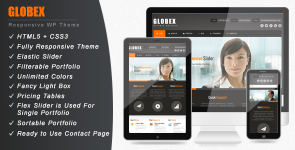 ThemeForest Globex Responsive Business WordPress Theme 2871437