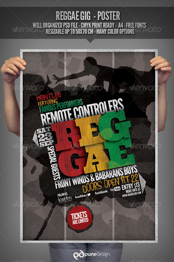 GraphicRiver Reggae Flyer Poster Template 2871752