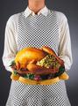 Homemaker Holding Turkey on a Platter - PhotoDune Item for Sale
