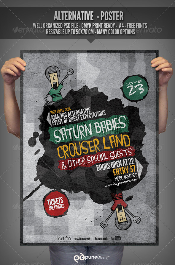 GraphicRiver Alternative Flyer Poster Template 2871835