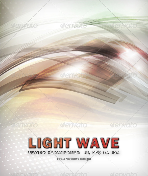 Light Wave - Vector Background - Backgrounds Decorative