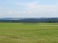 panoramic grassland scenery in Thuringia
