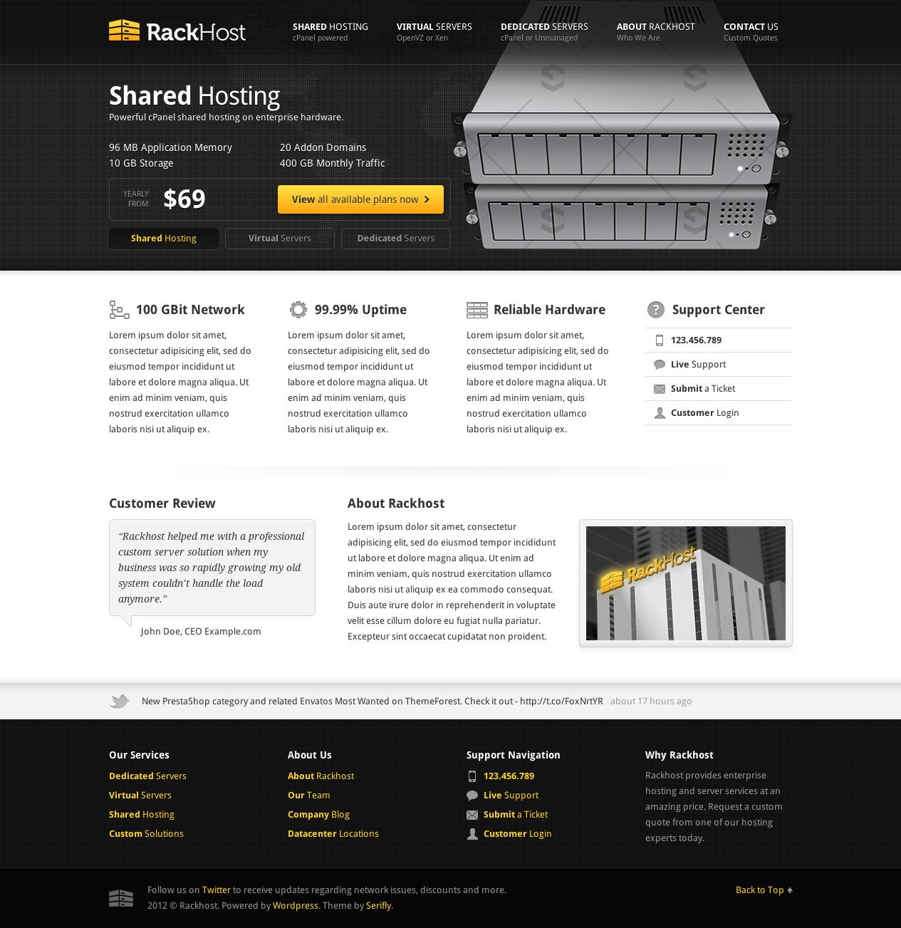 Google jquery themes - Rackhost Hosting Wordpress Theme