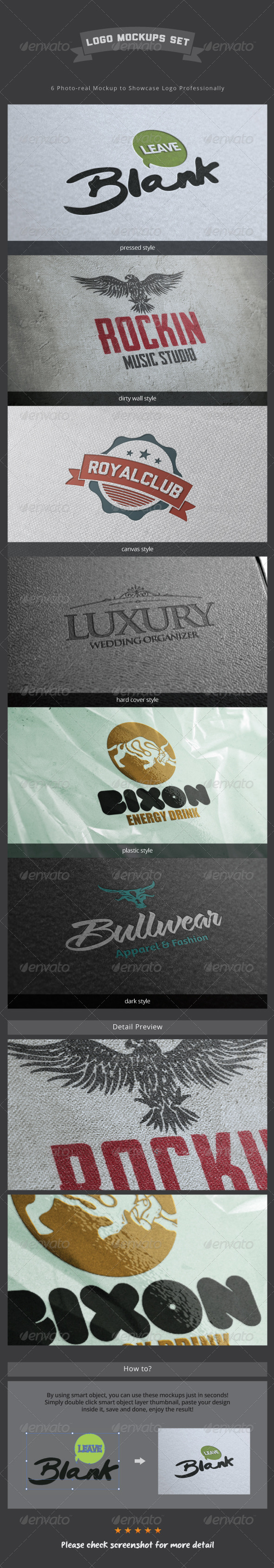 Logo Mockup Set - Logo Product Mock-Ups