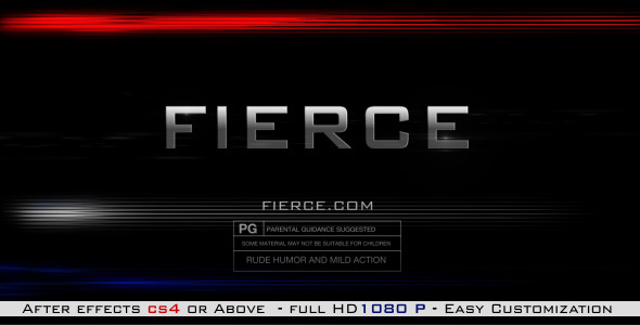 After Effects Project - VideoHive Fierce 2874468