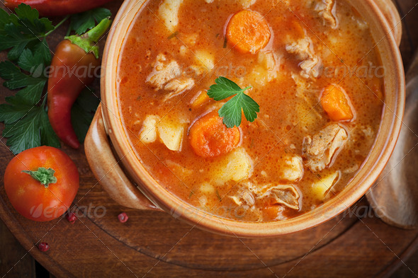 Veal stew with vegetables - Stock Photo - Images