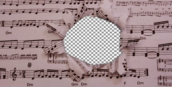 Sheet Music Overlay Mask