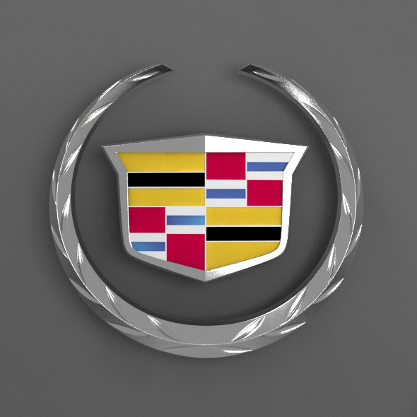 Cadillac Car Logo - 3DOcean Item for Sale