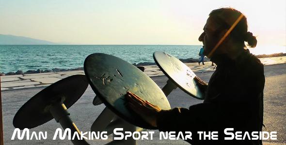 Man Making Sport Near The Seaside