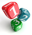 one two three numbers on dice box - PhotoDune Item for Sale