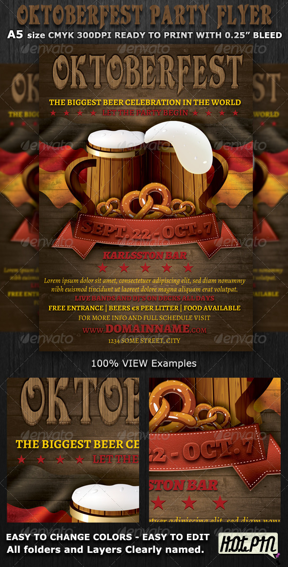 oktoberfest event flyer template graphicriver