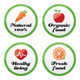 Organic food, fresh and natural products icons  - GraphicRiver Item for Sale