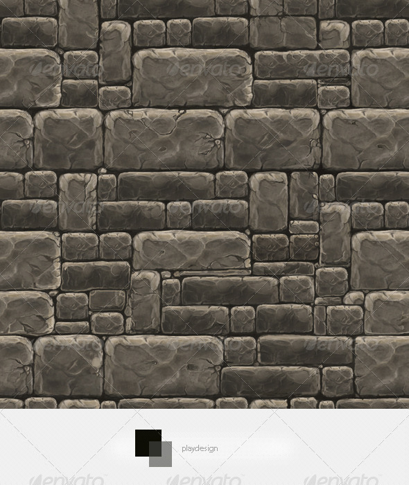 Stone Wall Texture Tile - 3DOcean Item for Sale