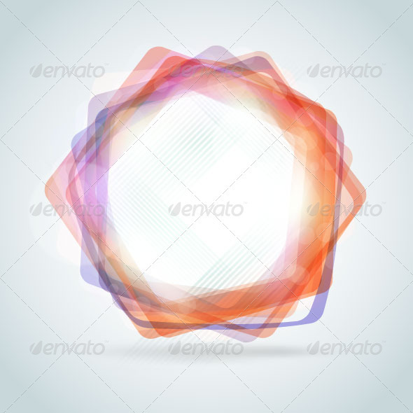 Abstract polygon frame - Decorative Vectors