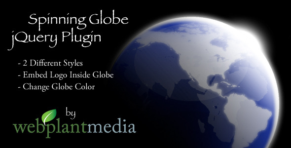 CodeCanyon Spinning Globe jQuery Plugin 2879096