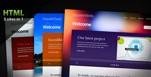 Exquisite Works, Travel & Furniture HTML