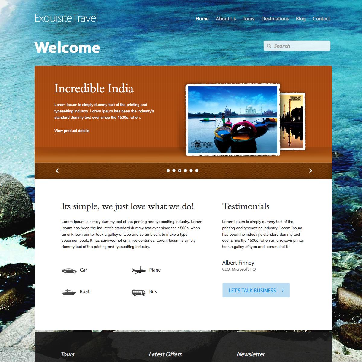 Exquisite Works, Travel & Furniture HTML