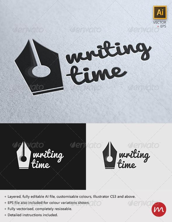 GraphicRiver Writing Time Creative Logo Template 2871561