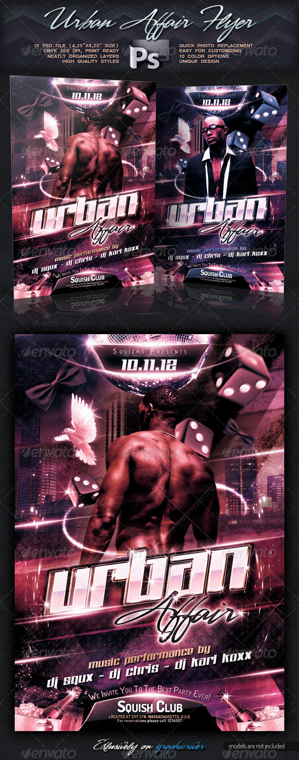 Urban/Black Affair Flyer - Clubs & Parties Events