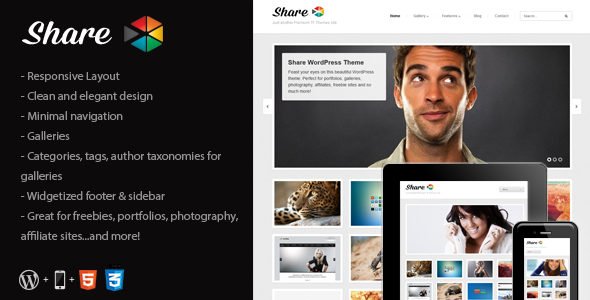 Share - Gallery, Photos, Freebies WordPress Theme