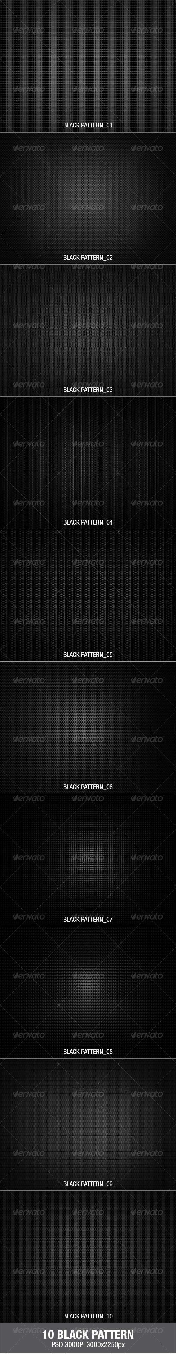 GraphicRiver 10 Black Pattern 2881873