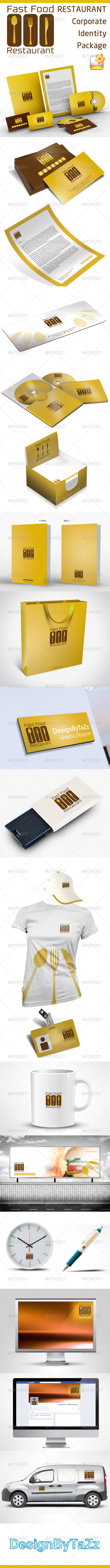 Fast Food & Restoran Corporate Identity Package
