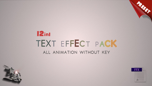 VideoHive 12 Text Fx Pack 2882812