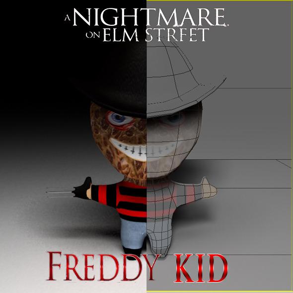 3DOcean Freddy Kruger Kid Model 2882868