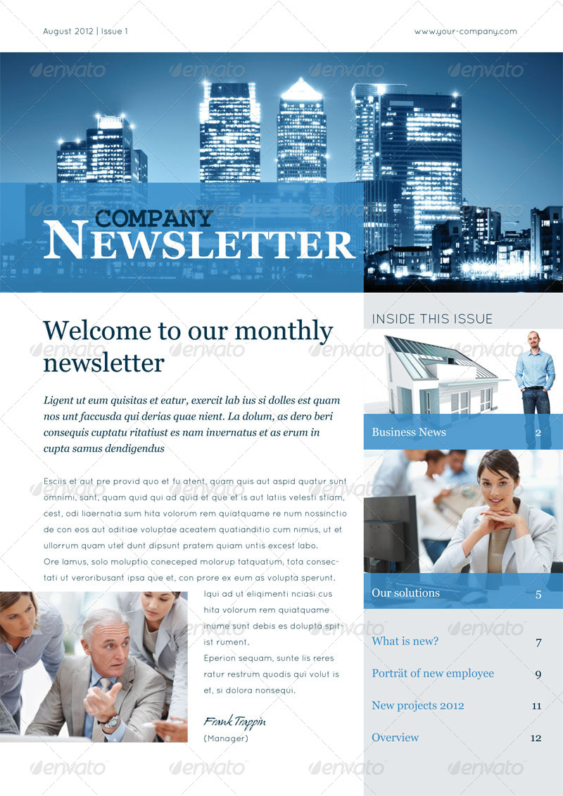 Business Newsletter Vol II by corrella – Business Newsletter