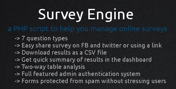 Survey Engine - CodeCanyon Item for Sale