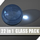 Glass Material Pack for C4D (22 in 1) - 3DOcean Item for Sale