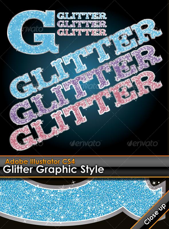 GraphicRiver Glitter Illustrator Graphic Style 96600