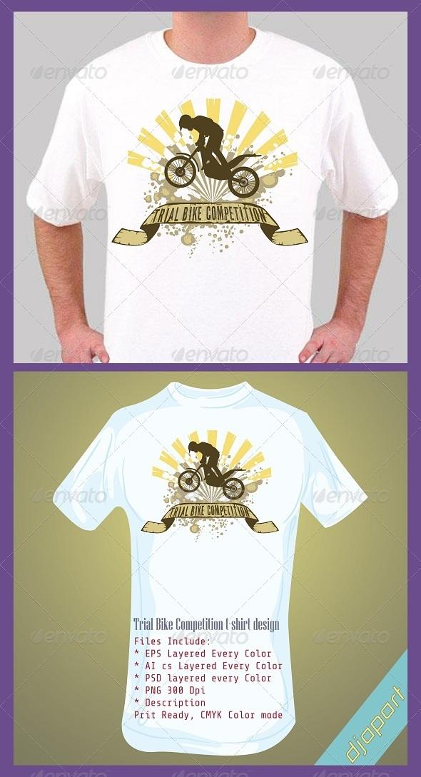 trial bike T-shirt design