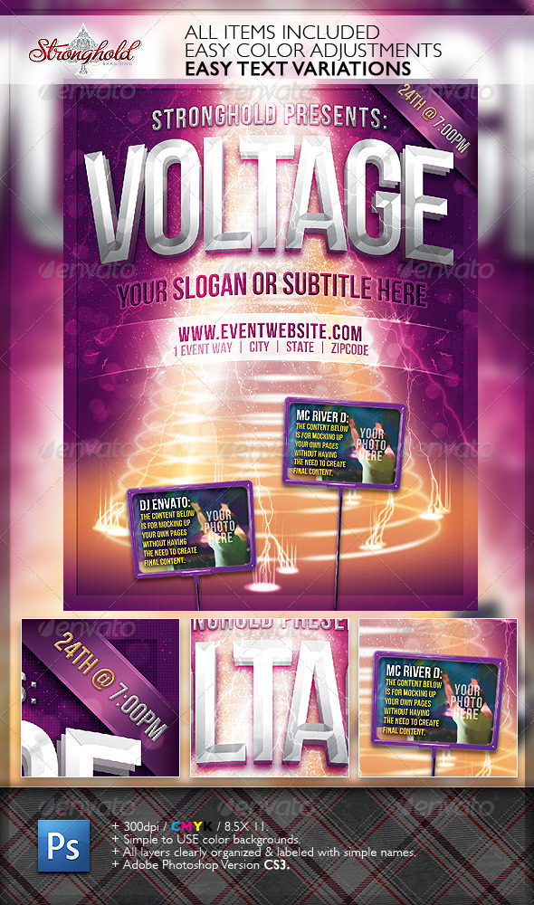 Voltage Party Flyer Template - Events Flyers