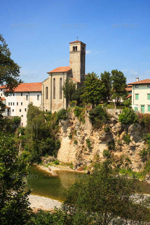 St. Pietro and St.Biagio church, Cividale del Friuli - Italy - Stock Photo - Images