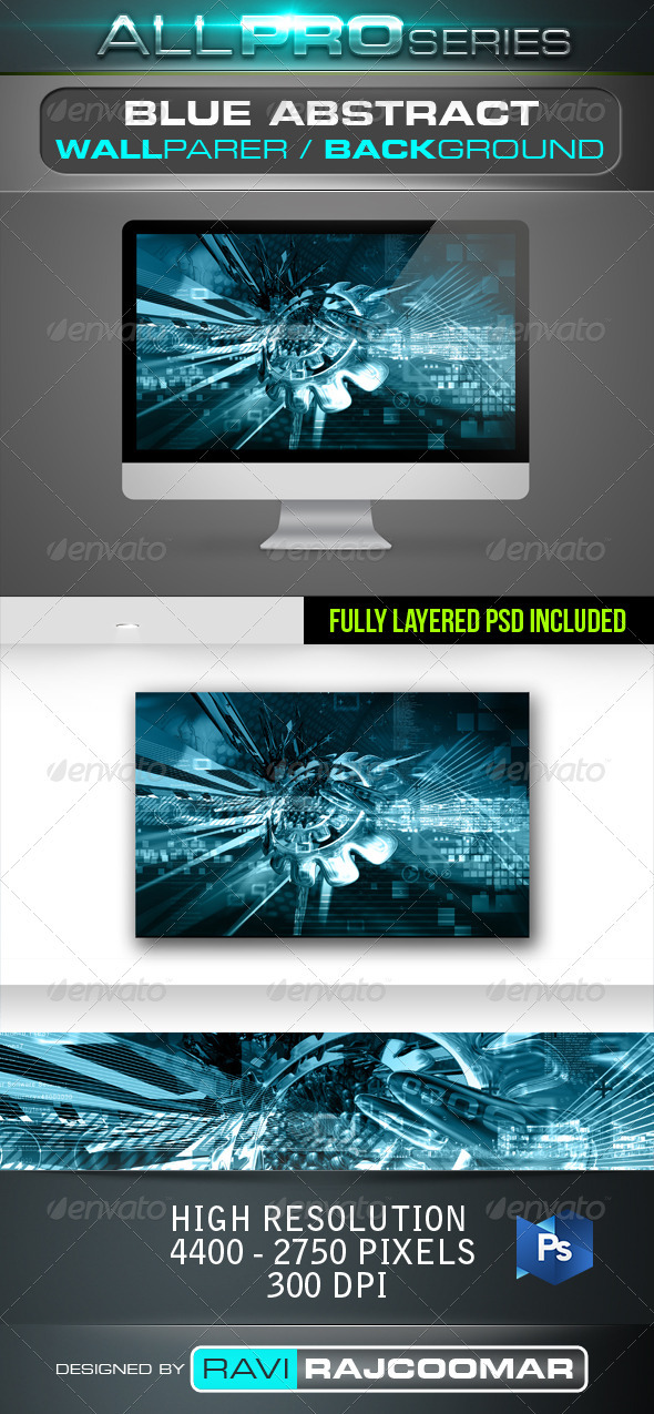 Blue Abstract Background - Tech / Futuristic Backgrounds
