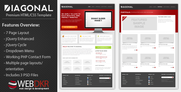 Diagonal - Premium HTML/CSS Template