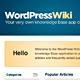WordPress Wiki Theme - ThemeForest Item for Sale