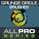 40 Grunge Circles Photoshop Brushes