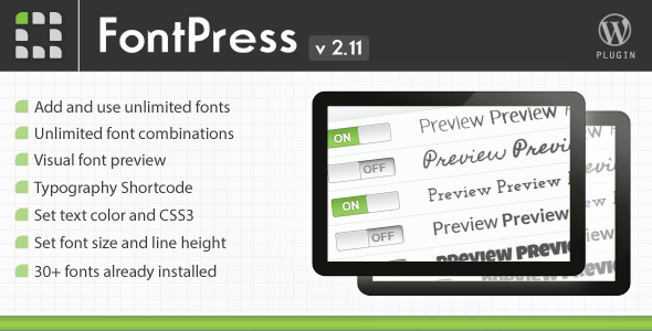 CodeCanyon FontPress Font Manager Plugin 1746759