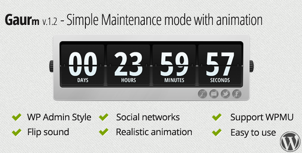 CodeCanyon Gaurm Simple Maintenance mode with animation 2827858
